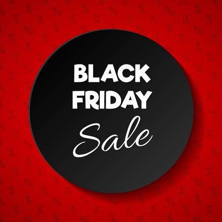 Black Friday Sale banner - shiny advertisement. Vector.