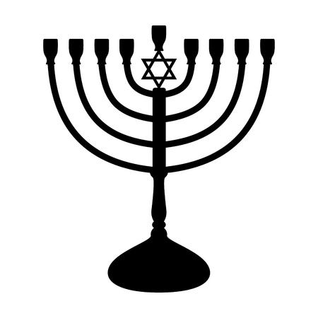 Menorah - icon of candelabrum. Vector.