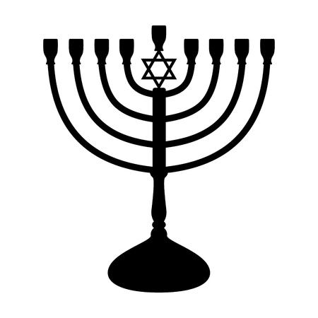 Menorah - icon of candelabrum. Vector. Illustration