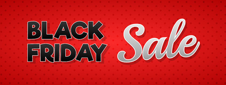 Beautiful poster for Black Friday Sale. Vector. Vettoriali