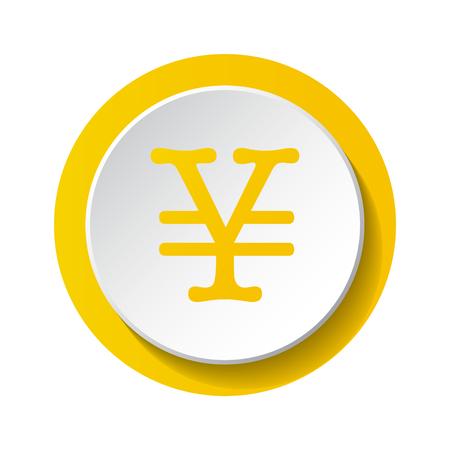 Yen symbol - 3d icon. Vector. Illustration