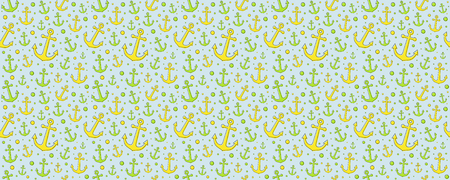 Sailor concept of seamless texture - background with anchors. Vector.