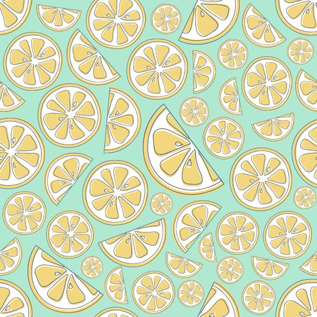 Pastel colored pastel background with fruits. Vector.