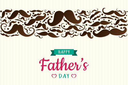 Concept of poster for Father's Day. Vector.