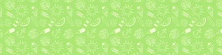 Banner with summer elements. Vector.
