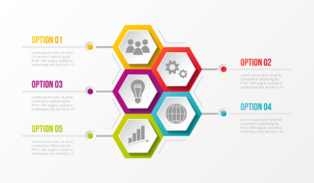 Business infograph with icons. Vector.