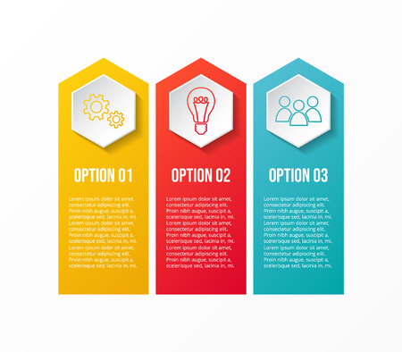 Business infographic template with colourful icons. Vector. Illusztráció