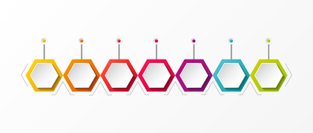 Empty colourful timeline - business infograph template. Vector.