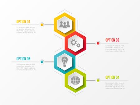 Concept of business infograph with options. Vector. Illusztráció