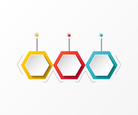 Línea de tiempo colorida vacía - plantilla de infografía empresarial. Vector. Ilustración de vector