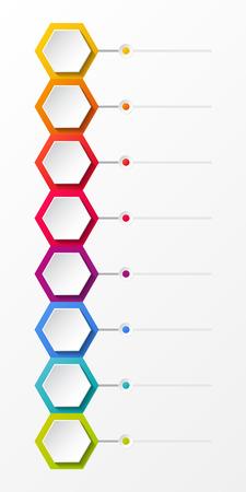 infografía infografía de negocios con los hexágonos del vector Ilustración de vector
