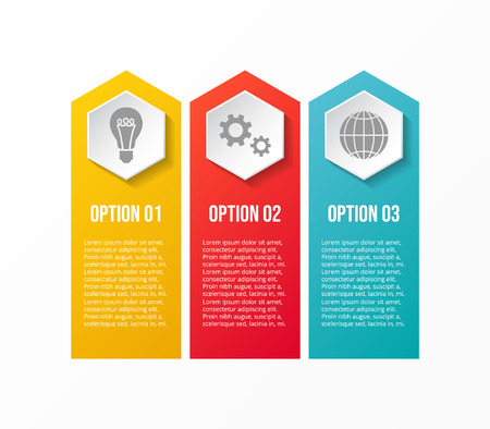 Template of infographic with different options. Vector.