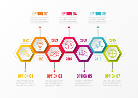Company timeline - concept of business infographic. Vector.