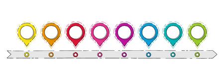 Infografía de negocio vacía - cronología de la empresa. Vector. Ilustración de vector
