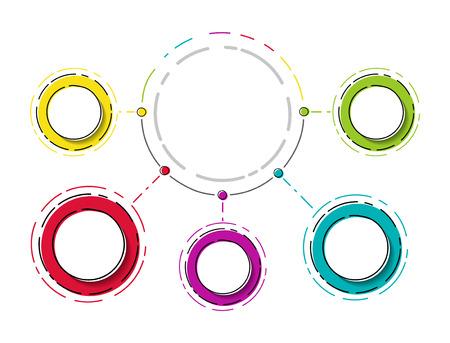 Round infographic - empty layout. Vector. 向量圖像