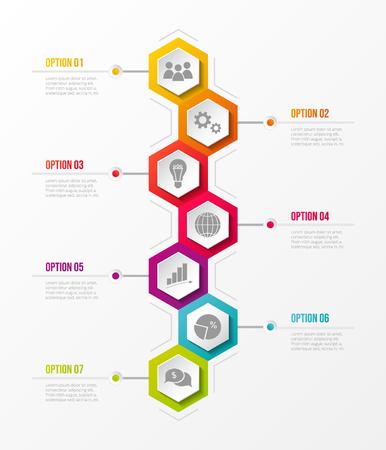 Concepto de infografía empresarial con opciones. Vector.