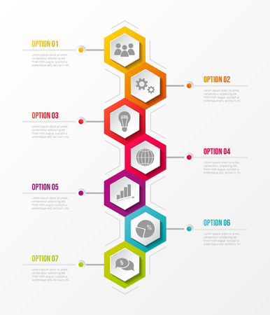 Concept of business infograph with options. Vector. Illustration