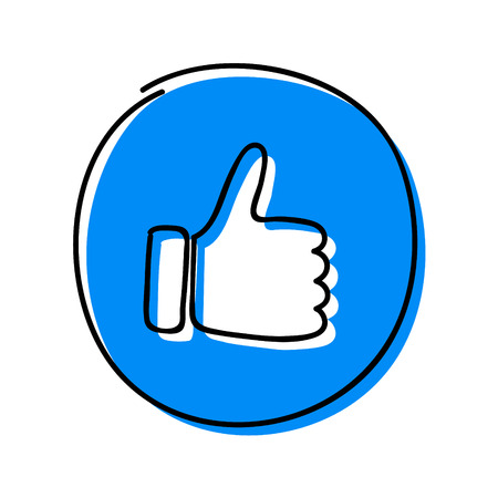 Social media icon - thumb (like) symbol. Vector.