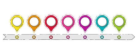 Infografía de negocio vacía - cronología de la empresa. Vector.