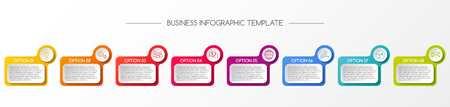 Infographic template - business timeline. Vector. Illustration