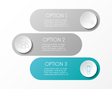 Infographic template with business icons. Vector.