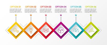 Diseño infográfico con iconos de negocios. Vector.