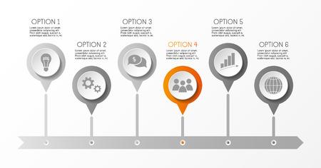 Infographic template - business timeline. Vector. Illusztráció