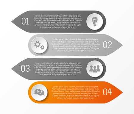 Infographic layout with business icons. Vector. Illusztráció