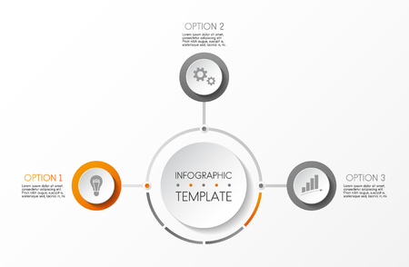 Concept of round infographic template. Vector.