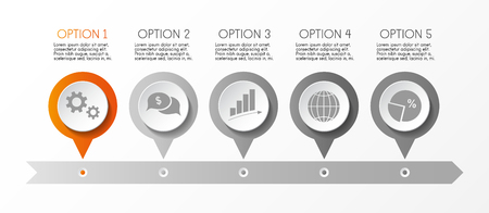 Business infograph with icons - concept of template. Vector.