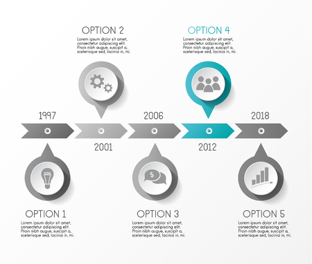 Concept of company timeline - business infograph. Vector. Illustration