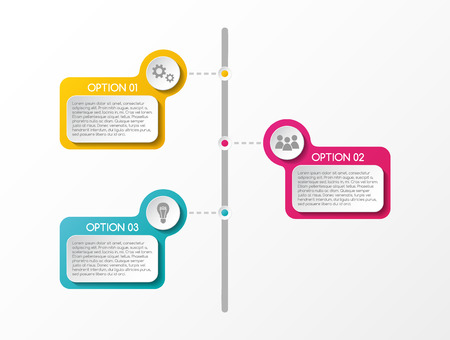 Colorful infographic with business icons. Vector.
