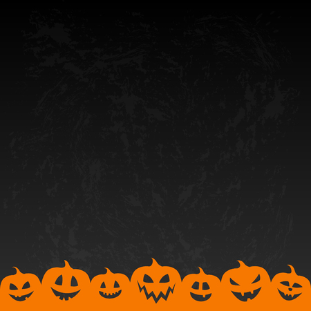 Layout of Halloween poster with scary pumpkins. Vector. Illustration