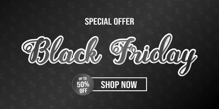 Concept of flyer for Black Friday Sale. Vector.