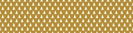 Wrapping paper with Christmas trees. Vector.  イラスト・ベクター素材
