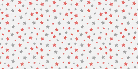 Concept of background with hand drawn stars. Vector.
