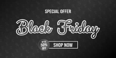 Black Friday Sale - card with background. Vector.