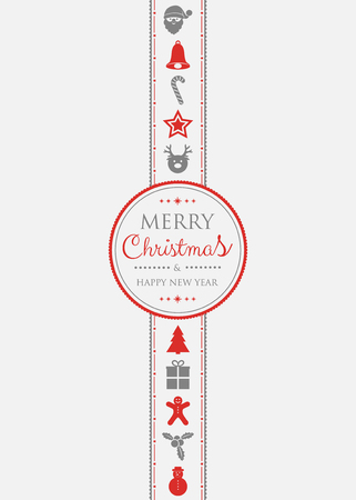 Beautiful greeting card for Christmas holidays. Vector. Illustration