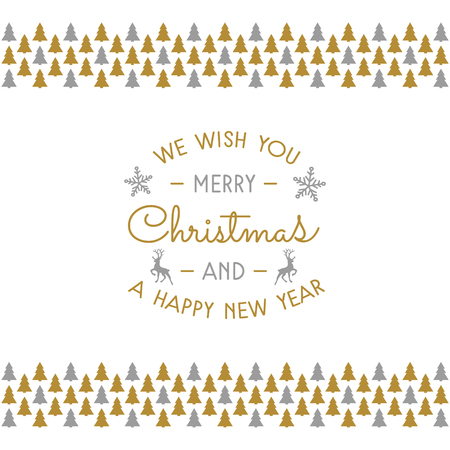 Christmas wishes with decoration. Vector. Stockfoto - 112805551
