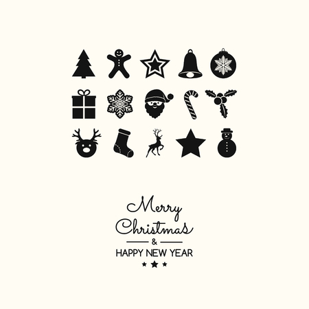 Christmas ornament with beautiful elements. Vector.