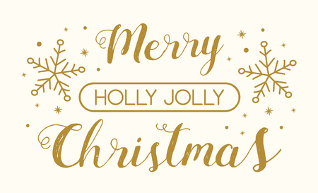 Concept of Christmas greeting card with decorative text. Vector.