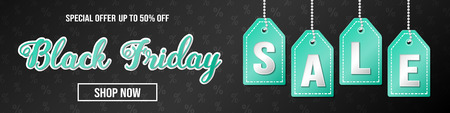 Concept of banner for Black Friday Sale. Vector.