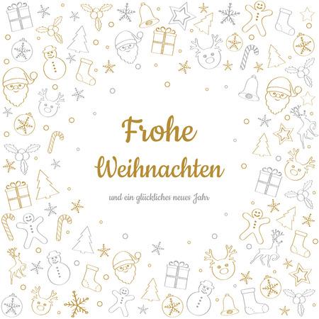 Frohe Weihnachten und Gluckliches Neues Jahr - german Christmas wishes.