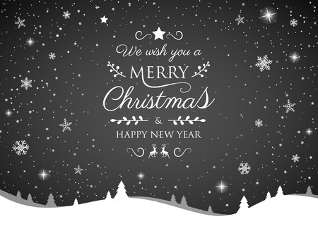 Christmas greeting card with shiny snowflakes. Vector. Banque d'images - 113481241