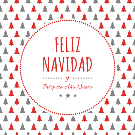 Feliz Navidad - translated from spanish as Merry Christmas. Vector Ilustração
