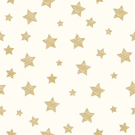 Diseño de un papel pintado con estrellas. Vector.