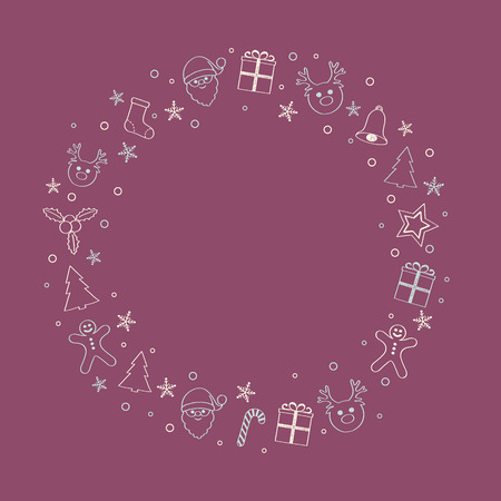 Christmas background with decorations and copyspace. Vector.