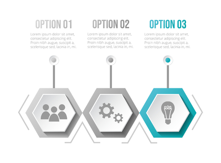 Business infographic with icons. Vector