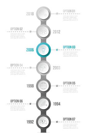 Infografía de negocios con iconos - concepto de plantilla. Vector Ilustración de vector