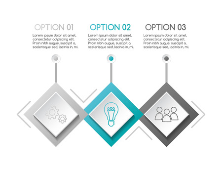 Business infograph with icons - concept of template. Vector